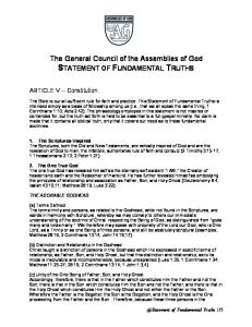 The General Council of the Assemblies of God