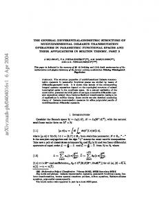 The general differential-geometric structure of multidimensional ...