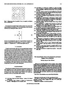 The generalization error of the symmetric and scaled support vector ...
