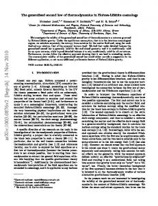 The generalized second law of thermodynamics in Horava-Lifshitz ...