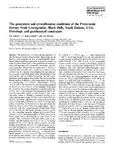The generation and crystallization conditions of the ... - Springer Link
