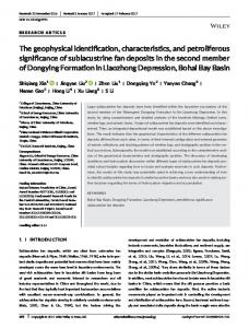 The geophysical identification, characteristics ... - Wiley Online Library