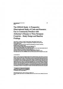 The GERAS Study: A Prospective Observational Study of Costs and ...