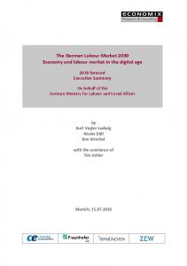 The German Labour Market 2030 Economy and labour market in the ...