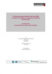The German Labour Market in the Year 2030 - ECONOMIX - Research ...
