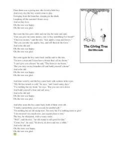 The Giving Tree, Shel Silverstein