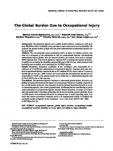 The global burden due to occupational injury - Wiley Online Library