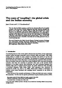 the global crisis and the Indian economy - Oxford Journals