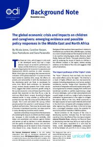 The Global Economic Crisis and Impacts on Children and ... - CiteSeerX