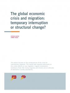The global economic crisis and migration: temporary interruption or ...