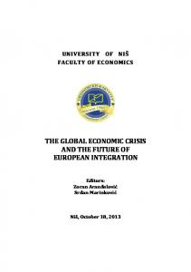 the global economic crisis and the future of european ...