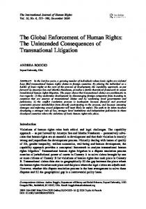 The Global Enforcement of Human Rights: The