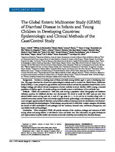 The Global Enteric Multicenter Study (GEMS) - BioMedSearch