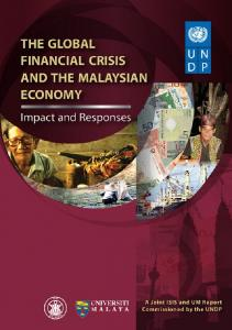The Global Financial Crisis and the Malaysian Economy