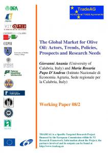 The Global Market for Olive Oil - AgEcon Search