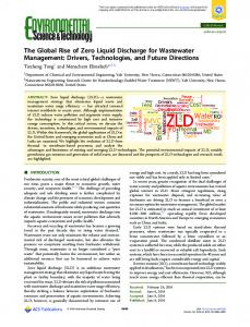 The Global Rise of Zero Liquid Discharge for ... - ACS Publications