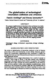 The globalization of technological innovation: definition ... - CiteSeerX