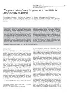 The glucocorticoid receptor gene as a candidate for gene ... - Nature