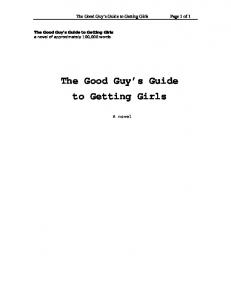 The Good Guy's Guide to Getting Girls - The Writing Show