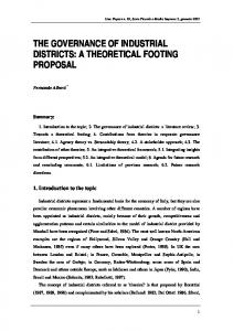 the governance of industrial districts: a theoretical footing proposal - Liuc
