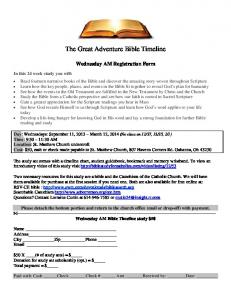 The Great Adventure Bible Timeline - St. Matthew the Apostle Church