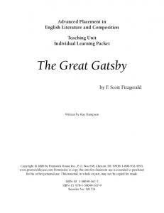 The Great Gatsby - Weebly