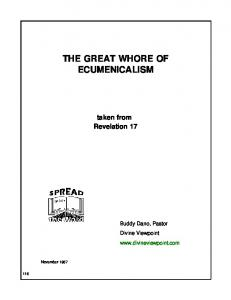 THE GREAT WHORE OF ECUMENICALISM - Divine Viewpoint