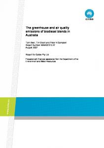 The greenhouse and air quality emissions of