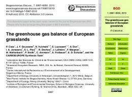 The greenhouse gas balance of European grasslands