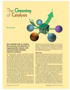 The Greening of Catalysis