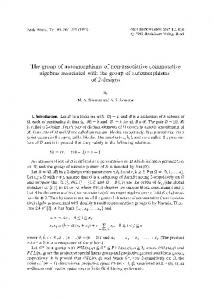 The group of automorphisms of non-associative ... - Springer Link
