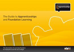 The Guide to Apprenticeships and Foundation Learning - alphi