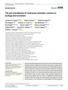 The gut microbiome of nonhuman primates