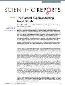 The Hardest Superconducting Metal Nitride