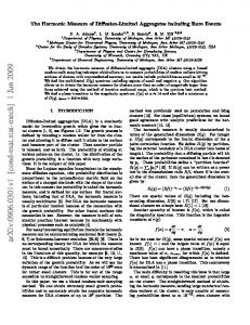 The Harmonic Measure of Diffusion-Limited Aggregates including ...