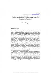 The Harmonisation of EU Copyright Law - SSRN papers