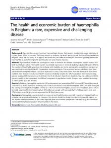 The health and economic burden of haemophilia in ... - BioMedSearch