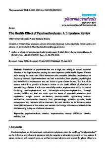 The Health Effect of Psychostimulants: A Literature Review - MDPI