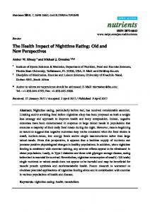 The Health Impact of Nighttime Eating: Old and New ... - MDPI