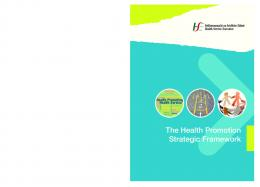 The Health Promotion Strategic Framework - Health Promotion Unit