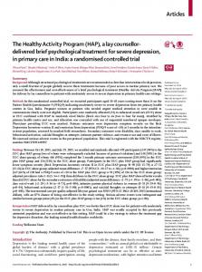 The Healthy Activity Program (HAP) - The Lancet