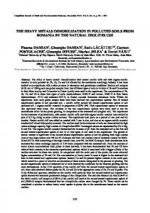 the heavy metals immobilization in polluted soils from
