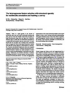 The heterogeneous feature selection with structural ... - Springer Link