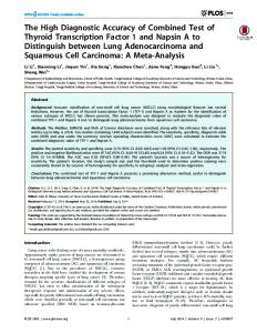 The High Diagnostic Accuracy of Combined Test of