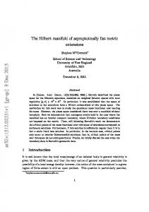The Hilbert manifold of asymptotically flat metric extensions
