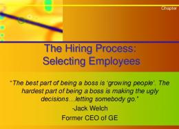 The Hiring Process-Chapter 15