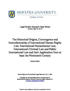 The Historical Origins, Convergence and ... - SSRN papers