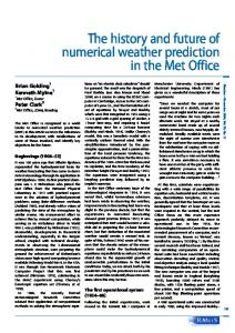 The history and future of numerical weather ... - Wiley Online Library