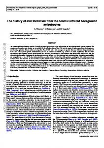 The history of star formation from the cosmic infrared background ...