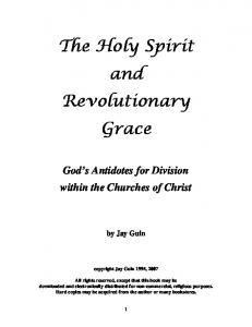 the-holy-spirit-and-revolutionary-grace-2 - One In Jesus